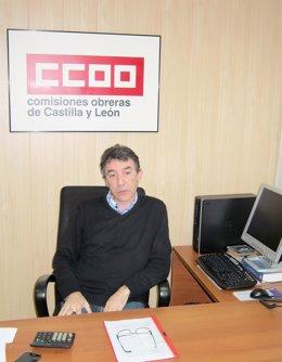 El secretario regional de CCOO, Ángel Hernández