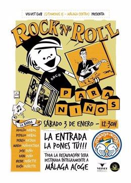 Cartel concierto Rock'n Roll para niños