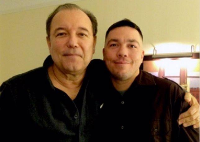 Rubén Blades con su hijo biológico