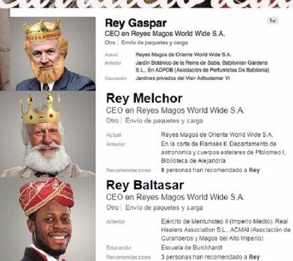 Los Reyes Magos buscan trabajo estable en Linkedin #CURRATELOREY