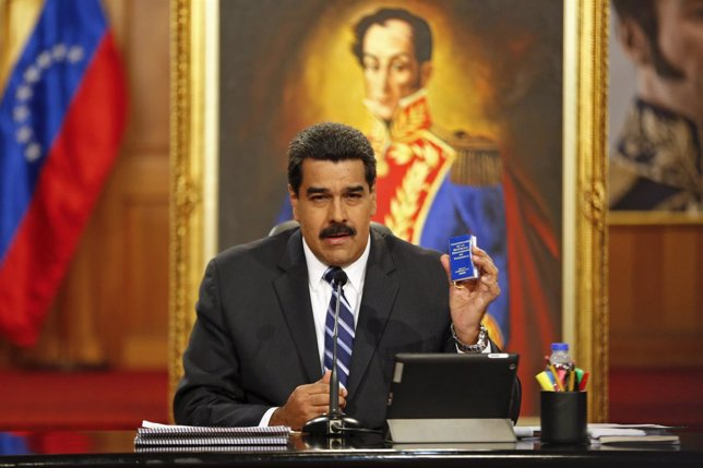 Nicolas Maduro, presidente de Venezuela, ante las cámaras