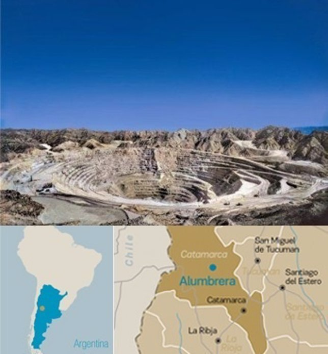 Mina de Alumbrera en Argentina