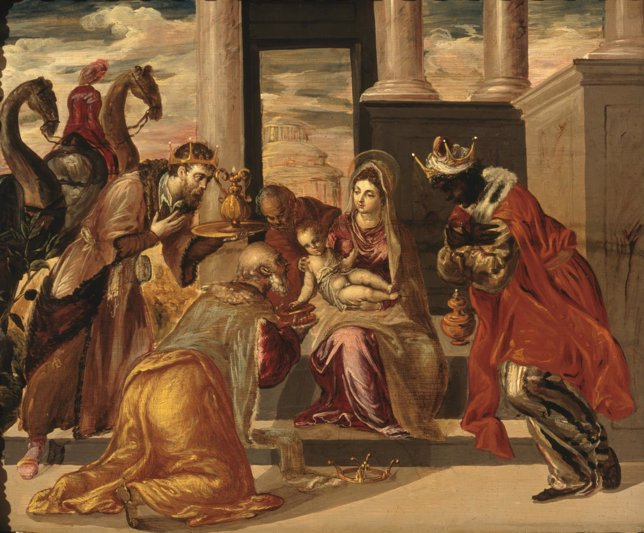 La adoración de los reyes magos al niño Jesús Giotto