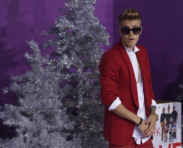 Justin Bieber en la prémier de Justin Bieber. Believe