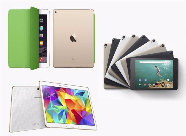 Tablets tabletas iPad Air 2, Nexus 9, Galaxy Tab S 10.5