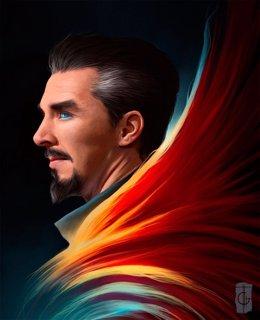 Fan Art de Benedict Cumberbatch como Doctor Extraño