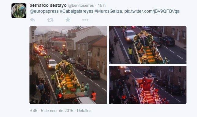 Cabalgata de Reyes vía Twitter