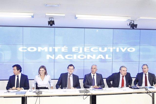 Cospedal, Rajoy, Arenas en el Comité Ejecutivo Nacional del PP