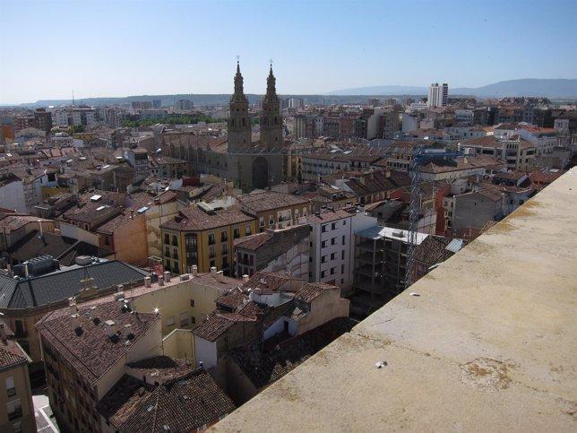 Imagen de Logroño desde lo alto