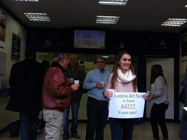 Tercer premio de El Niño vendido en Castelldefels (Barcelona)