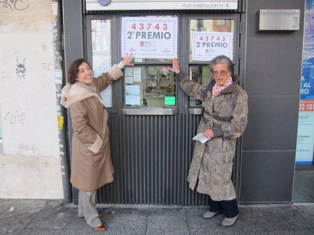 La Administración número 4 de Zaragoza reparte parte del segundo premio del Niño