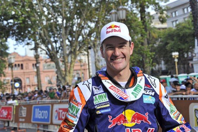 Marc Coma, piloto español de motos, en el Dakar 2015