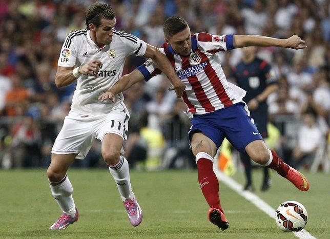Gareth Bale y Siqueira en el Real Madrid - Atlético Madrid