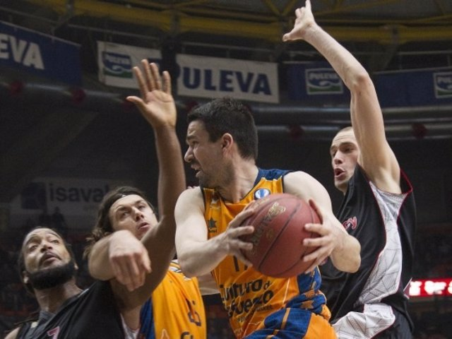 Rafa Martínez, del Valencia Basket, en un partido de Eurocup
