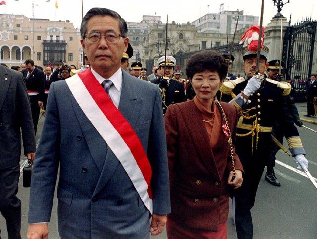 Alberto Fujimori y su ex esposa Susana Higuchi