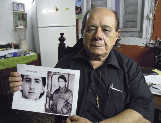 Raul Borges padre de un preso político en Cuba