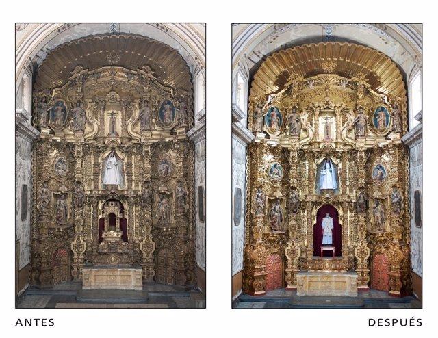 Restauración retablo San Felipe Neri