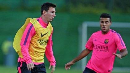 Messi entrena con el Barça entre la polémica por su ausencia del lunes