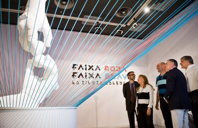 Inauguración de Faixa roja faixa blava en la Beneficència