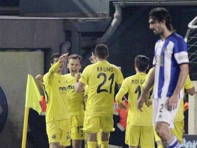 El Villarreal vence a la Real Sociedad en Copa