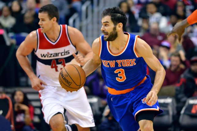 José Manuel Calderón en el New York Knicks - Washington Wizards