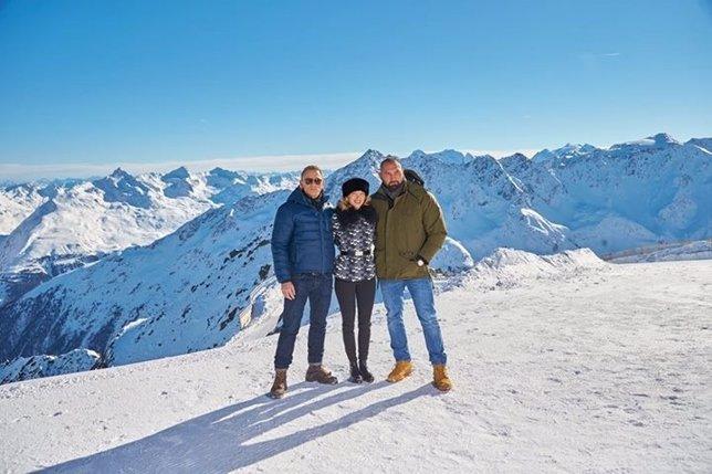 Daniel Craig, Léa Seydoux y Dave Bautista en Austria