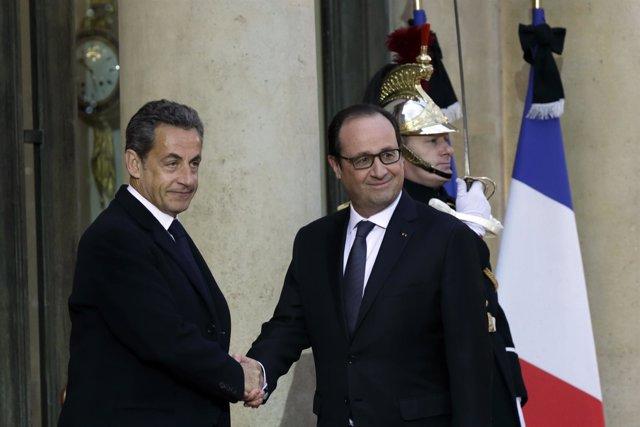 Hollande y Sarkozy