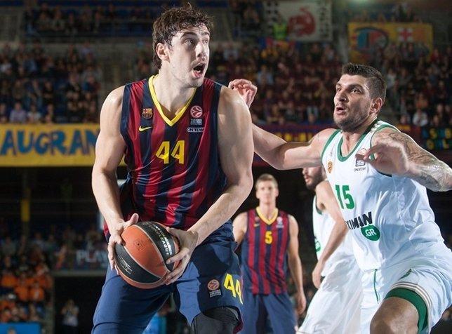 Ante Tomic en el Barcelona - Panathinaikos