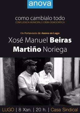 Os Portavoces De Anova, Beiras E Noriega, Mañá En Lugo