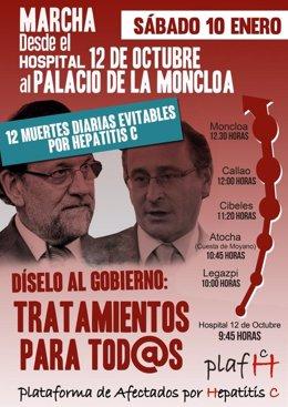 Marcha hasta Moncloa por la hepatitis C