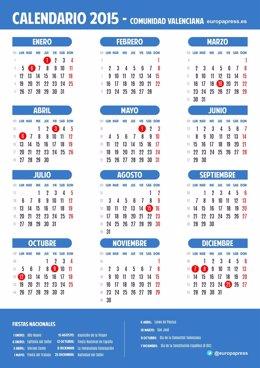 Calendario laboral de la Comunidad Valenciana