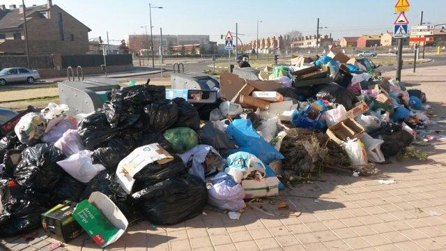 Huelga de basura en Parla