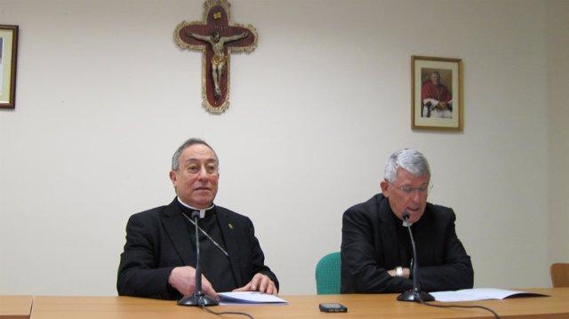 Maradiaga y Rodríguez en rueda de prensa