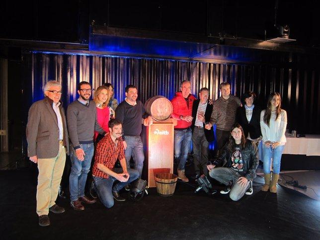 Iturbe con presentadores de EiTB