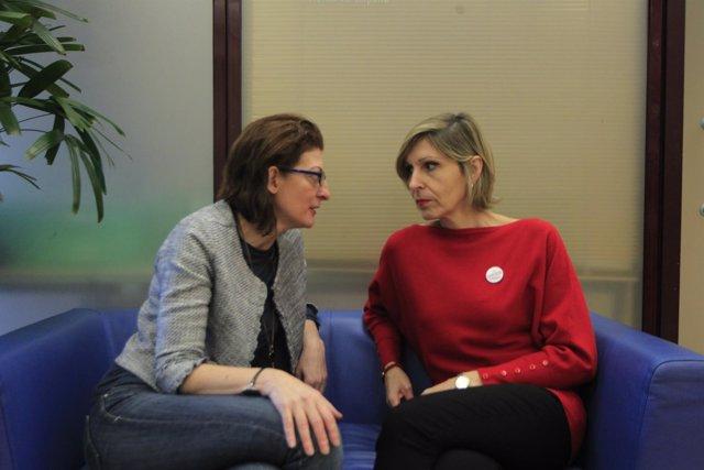 Las eurodiputadas de UPYD Maite Pagazaurtundua y Beatriz Becerra