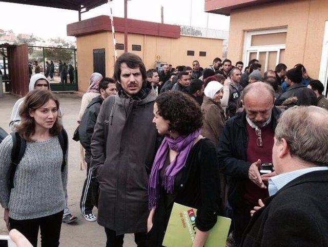 Los eurodiputados Albiol (IU) y Urtasun (ICV) en Melilla