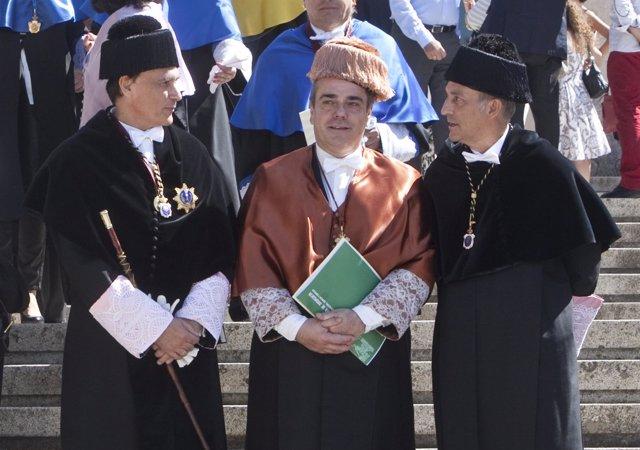 Villamandos (izda.) y Perez Alcalá (dcha.) en un acto de la UCO