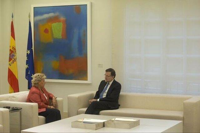 Mariano Rajoy recibe a Ángeles Pedraza en La Moncloa