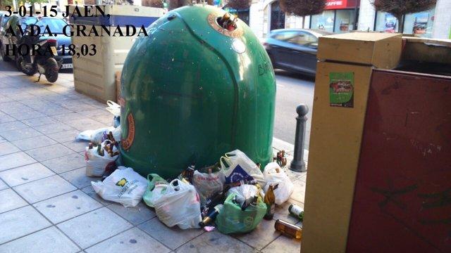 Contenedor de vidrio de Jaén