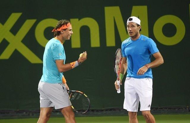Nadal y Mónaco en el dobles de Doha