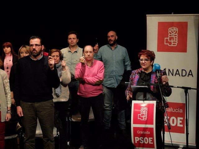 Minuto de silencio antes del Comité Provincial del PSOE de Granada