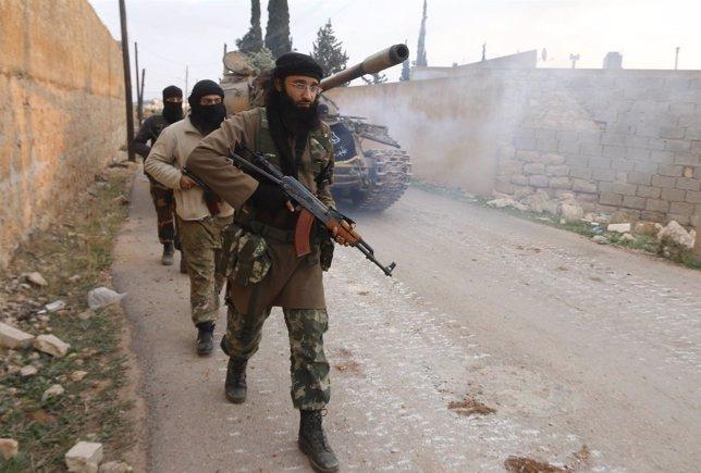 Milicianos del Frente al Nusra en Alepo