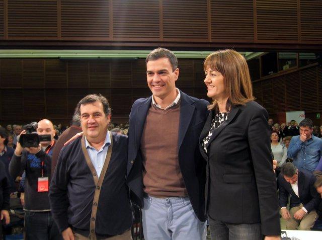 Ernesto Gasco, Pedro Sánchez, Idoia Mendia