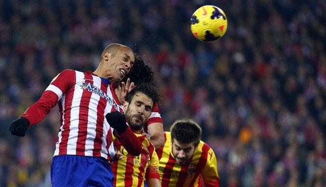 João Miranda y Francesc Fábregas en el Atlético de Madrid - FC Barcelona