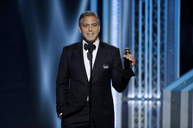 George Clooney en los Globos de Oro