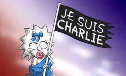 """Tributo de Los Simpson a Charlie Hebdo: """"Je Suis Charlie"""""""