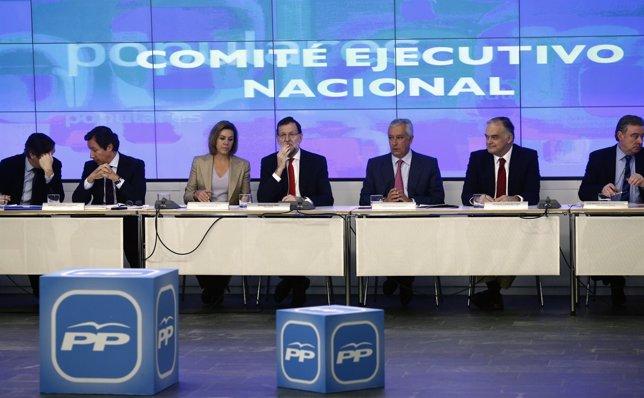 Rajoy preside el Comité Ejecutivo Nacional del PP