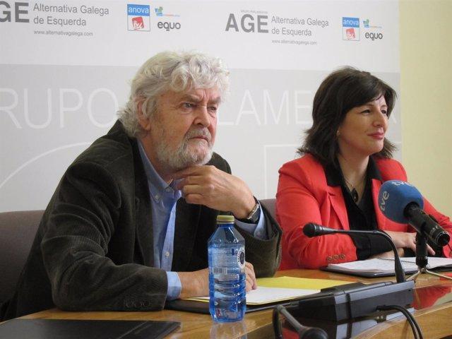 Yolanda Díaz y Xosé Manuel Beiras