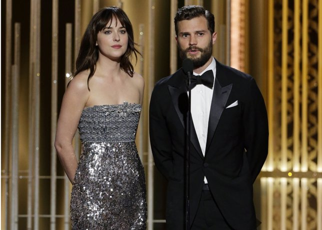 E0 sombras de Grey, Jamie Dornan y Dakota Johnson, protagonistas Golden Globe