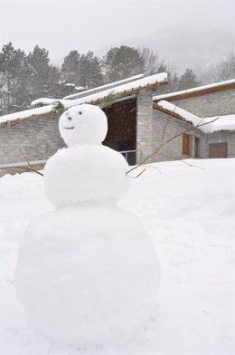 Muñeco de nieve, en la provincia de Huesca